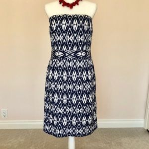 Banana Republic Strapless Ikat Dress, Size 10